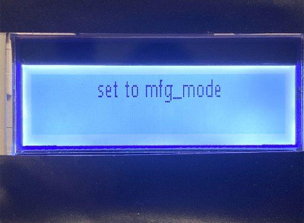 set to mfg_mode