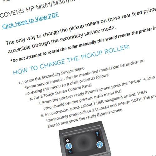 HP Replace pickup roller TTIP