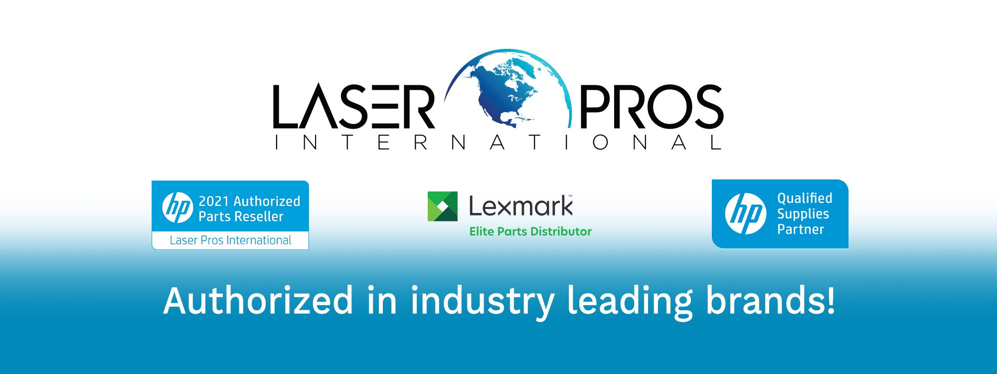 Authorized in industry leading brands